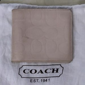 Coach off white leather wallet